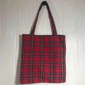 Royal Stewart Tartan Plain Fabric Tote Bag